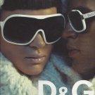 Magazine Paper Print Ad For 2006 Dolce & Gabbana White Frame Sunglasses