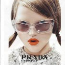 Magazine Paper Print Ad With Rasa Zukauskaite For Prada Clear Frame Glasses