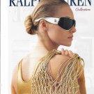 Magazine Paper Print Ad With Natalia Vodianova For 2006 Ralph Lauren White Sunglasses