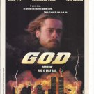 Magazine Paper Print Ad With Brad Pitt For God Movie Promo