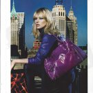 Magazine Paper Print Ad With Kate Moss For Longchamp Purple Bags