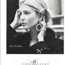 Magazine Paper Print Ad With Ivanka Trump For Rock Tradition Jewelry