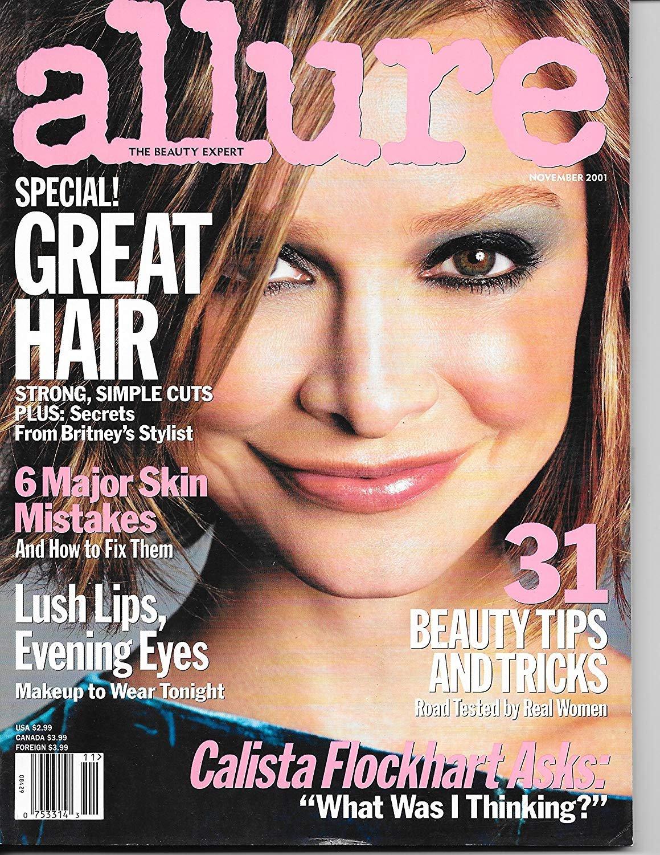 Allure Magazine November 2001 Calista Flockhart Cover