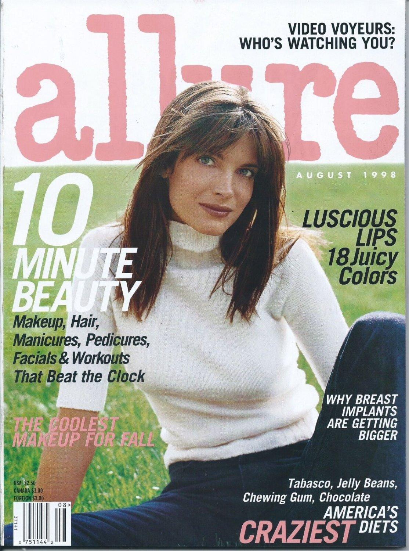 Allure Magazine August 1998 Stepfanie Seymour Cover