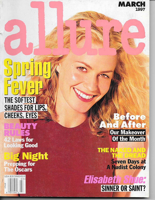 Allure Magazine March 1997 Elizabeth Shue Cover