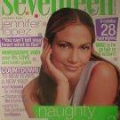 Seventeen Magazine January 2001 Jennifer Lopez Cover