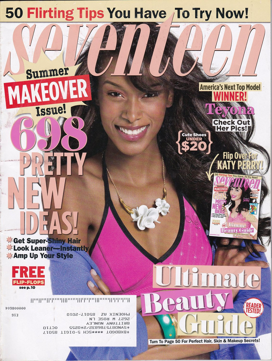 Seventeen Magazine July 2009 Teyona Cover