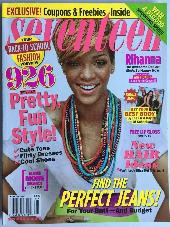 Seventeen Magazine August 2010 Rihanna Cover