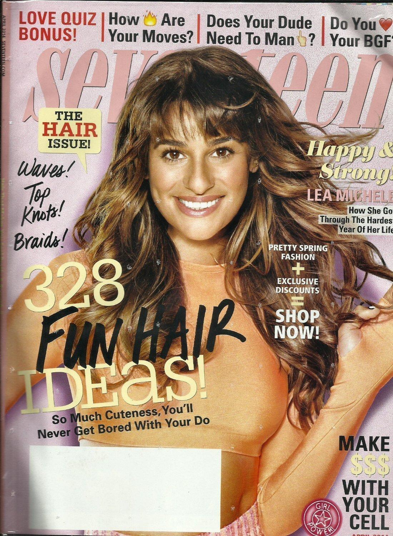 Seventeen Magazine April 2014 Leah Michelle Cover