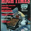 High Times Magazine January 1982
