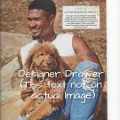 Photograph With Usher And Goldendoodle Dog