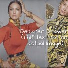 Magazine Paper Print Ad With Kristy Turlington For Versace Fashions