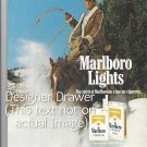 Magazine Paper Print Ad For Marlboro Cowboy & Horse Down Snowy Mountain