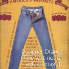 Magazine Paper Print Ad For Lucky Blue Jeans