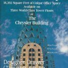 Magazine Paper Print Ad For Chrysler Building Office Space