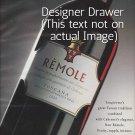 Magazine Paper Print Ad For Remole Toscano 2000 Wines