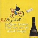 Magazine Paper Print Ad For Red Bicyclette Wines