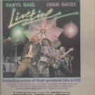 Magazine Paper Print Ad With Hall & Oates Livetime Album