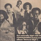 Magazine Paper Print Ad With The Commodores For Natural High Album Promo