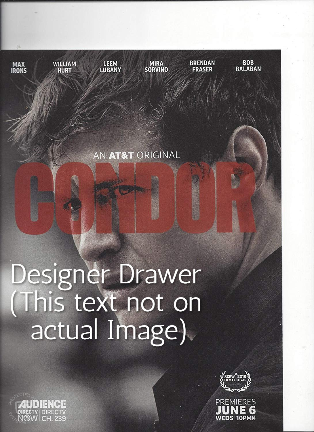 Magazine Paper Print Ad With Max Irons For Condor TV Promo
