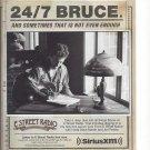 Original Magazine Paper Print Ad With Bruce Springsteen For Sirius Radio