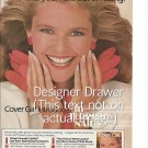 Magazine Paper Print Ad With Christie Brinkley For Cover Girl Cosmetics