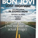 Magazine Paper Print Ad For Lost Highway Album Promo