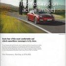 Magazine Paper Print Ad For 2010 Red Porsche Panamera Cars