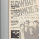 Magazine Paper Print Ad With The Cowboy Junkies For Trinity Sessions