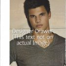 Original Magazine Photo With Taylor Lautner In Gray Tee