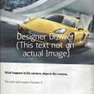 Magazine Paper Print Ad For 2013 Yellow Porsche Cayman S Cars