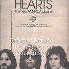 Original Magazine Print ad With Hearts For America Album Promo 1975