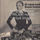Magazine Paper Print Ad With David Bowie For RCA Album Set Promo