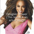 Original Magazine Photo With Tyra Banks In Pink Top