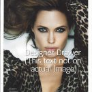 Original Magazine Photo With Actress Angelina Jolie In 2010