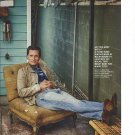 Original Magazine Photo With Actor Matthew Mcconaughey Sitting In Chair