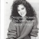Original Magazine Photo With Actress Rebecca Schaeffer In 1986