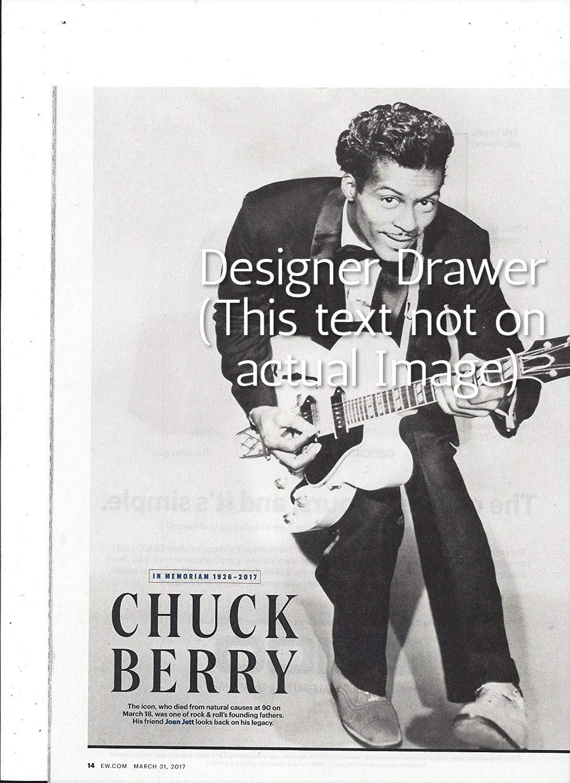Original Magazine Photo With Chuck Berry In Memoriam