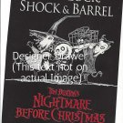 Magazine Paper Print Ad For Nightmare Before Christmas Movie Promo