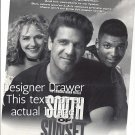 Magazine Paper Print Ad For South of Sunset TV Show Promo