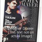 Magazine Paper Print Ad With John Mayer For 2010 Concert Promo