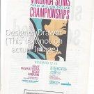 Magazine Paper Print Ad For Virginia Slims Tennis Tournament 1990
