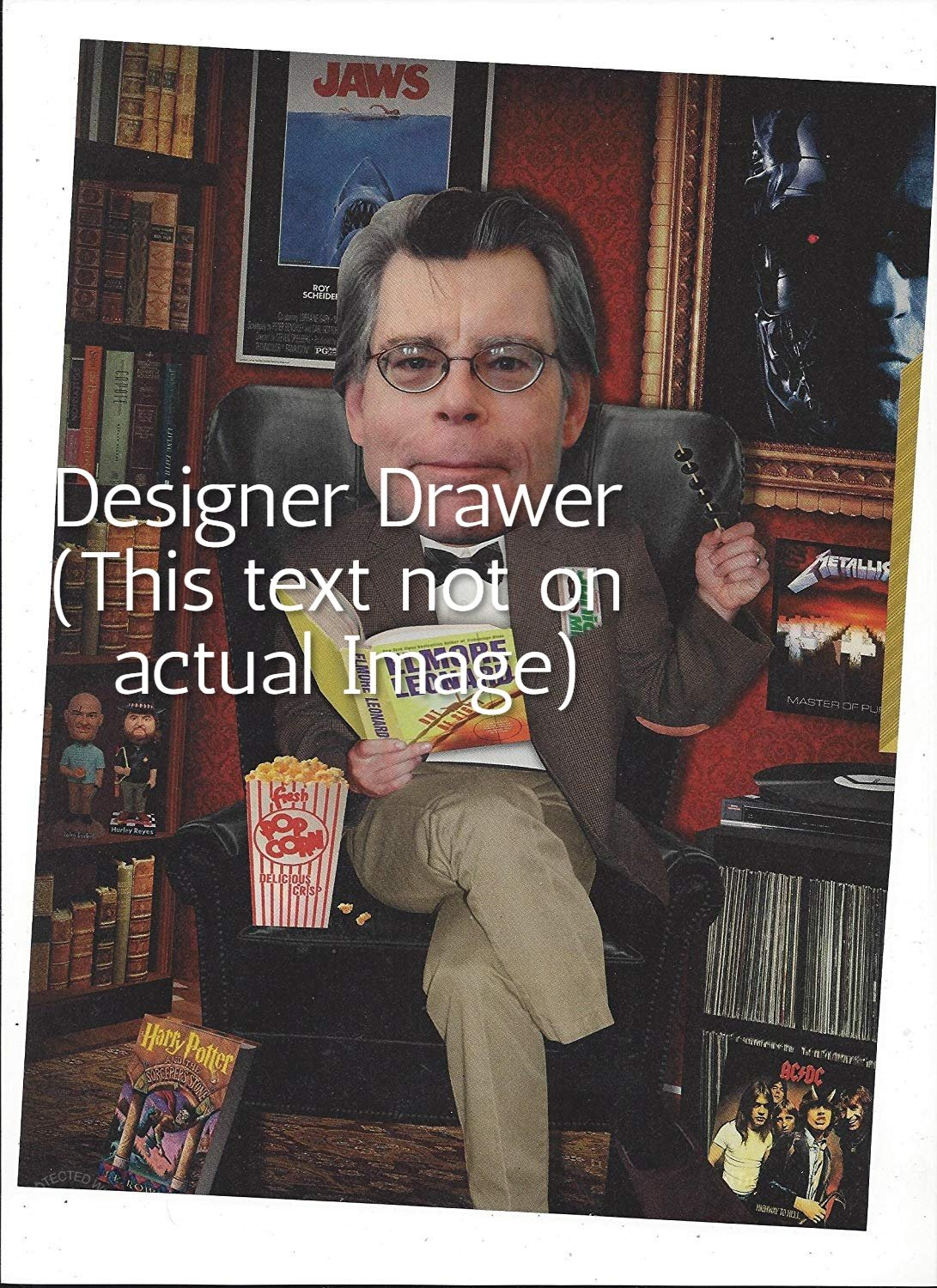Original Illustrated Magazine Photo With Stephen King