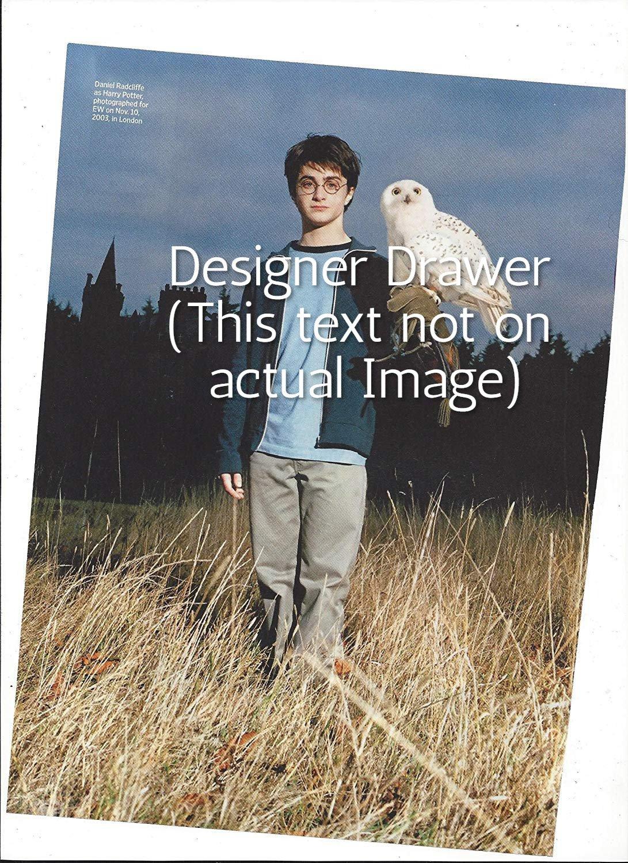 Original Magazine Photo With Daniel Radcliffe & Hedwig The Owl
