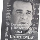 Magazine Paper Print Ad For Decoration Day Movie With James Garner