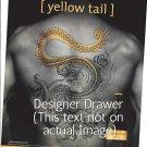 Magazine Paper Print Ad For Yellow Tail Wine: Tattoo Back Scene