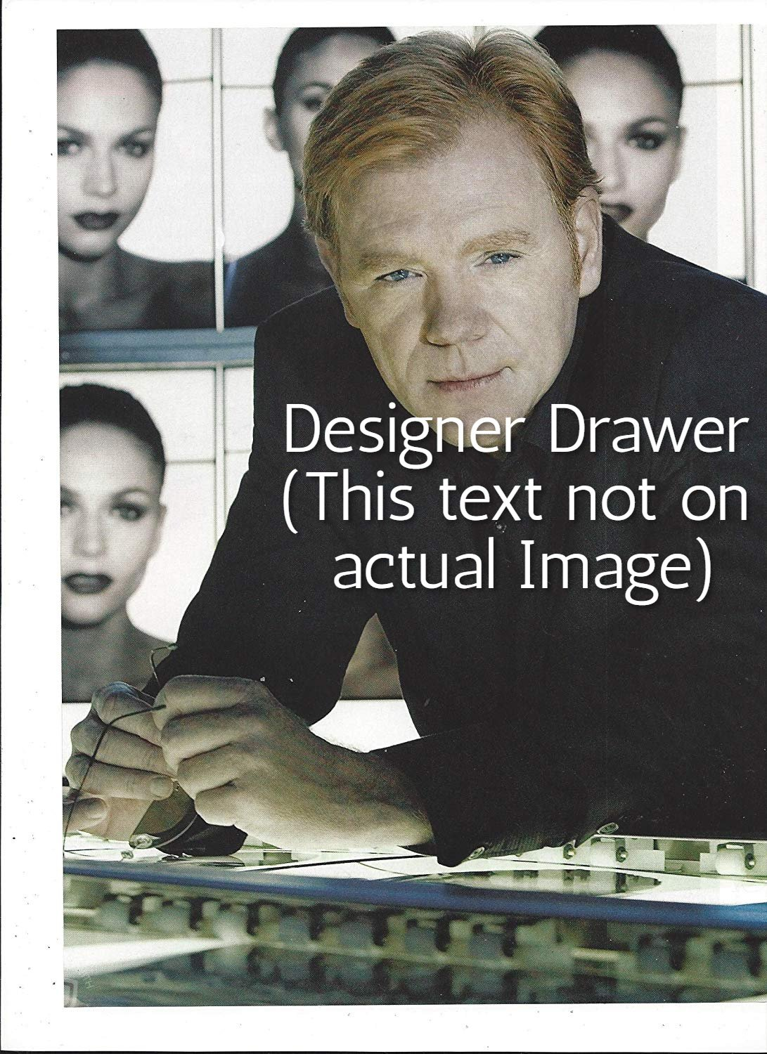 Original Magazine Photo With David Caruso In 2007