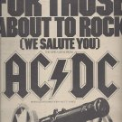 Magazine Paper Print Ad With AC/DC For Those About To Rock Album Promo