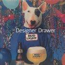 Magazine Paper Print Ad For Budweiser Beer: Spuds Mackenzie Guru