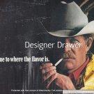 Magazine Paper Print Ad For Marlboro Cowboy In White Hat Lighting Up